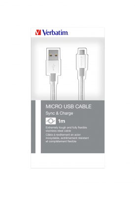 Micro USB Stainless Steel Sync and Charge Cables